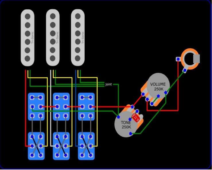 Wiring Diagram Brian May Guitar : Brian may red special wiring diagram